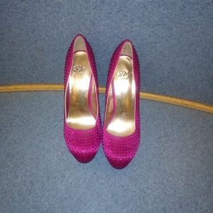 SM New York Fuschia Platform Heels
